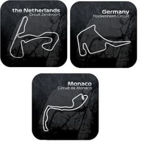 Formule 1 circuit onderzetters