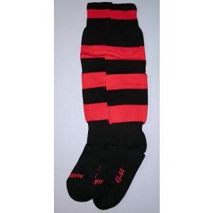 Voetbalkousen zwart/rood