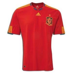 Spanje thuis shirt 10/11          www.fanmarkt.nl